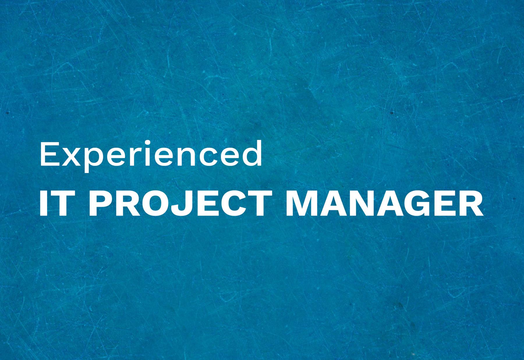 IT Project manager (Experienced)